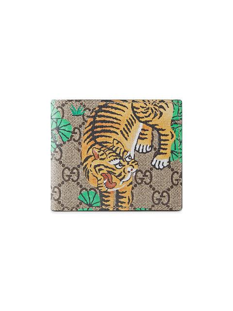 a6ebde96734b Gucci Gg Supreme Tiger Billfold Wallet | ModeSens