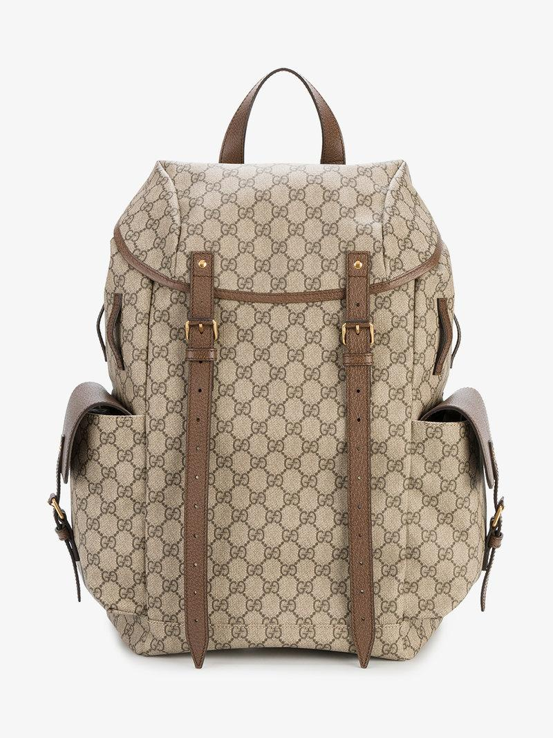 7164dd5ca87 Gucci Men s Neo Vintage Gg Supreme Print Backpack In Brown