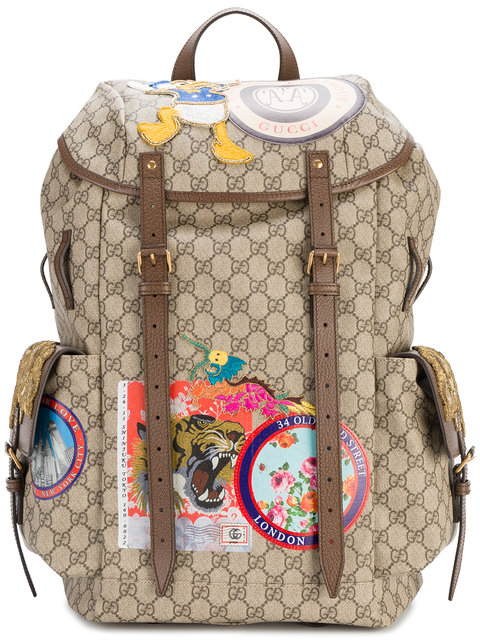 ad74b14413b Gucci Gg Supreme Backpack With Patches