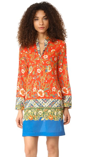 e9359ba2c1d Tory Burch Stephanie Floral-Print Cotton Poplin Tunic In Batik Floral