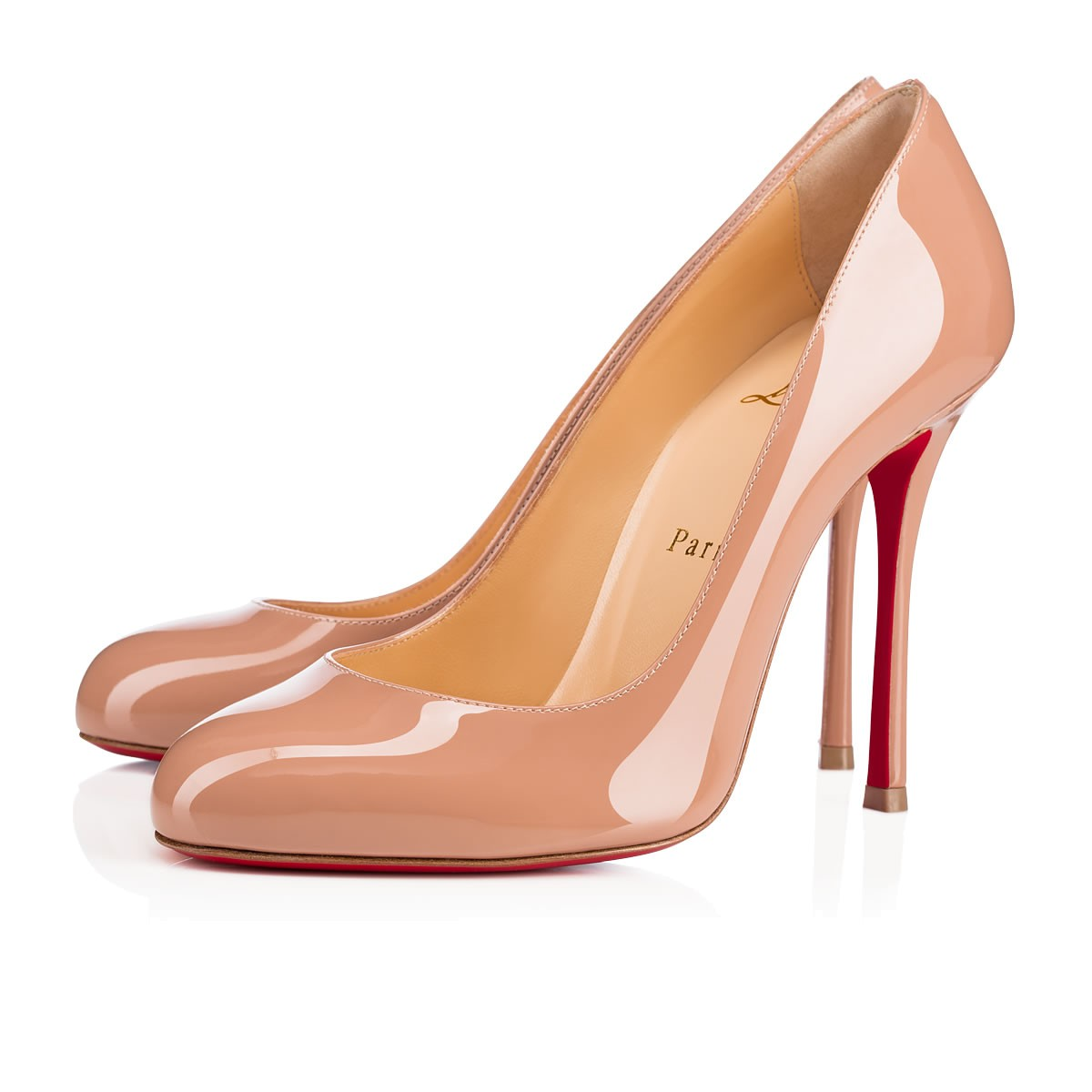 b72a48f03d Christian Louboutin Fifille Patent Red Sole Pump In Nude | ModeSens