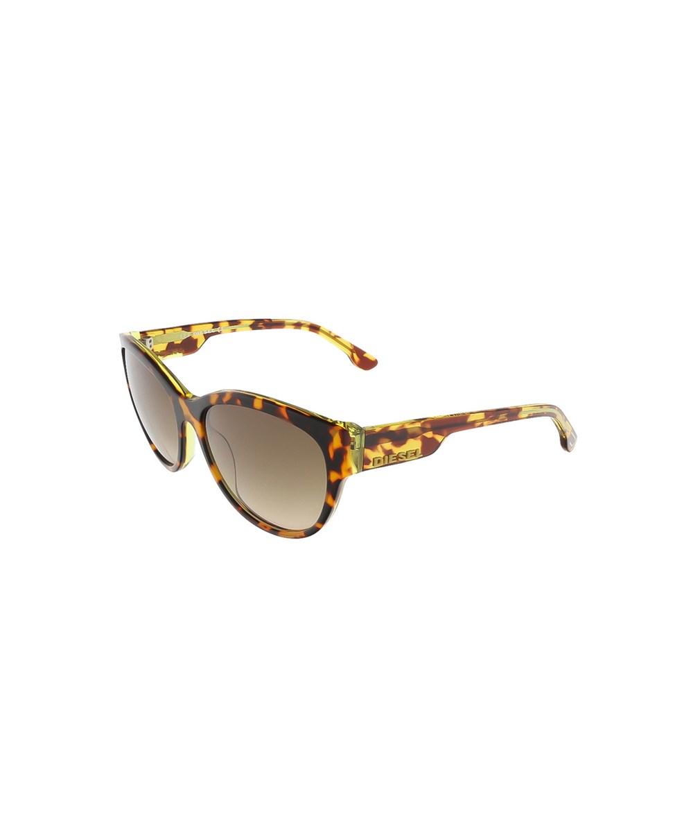 Diesel Dl0013/s 56p Brown Tortoise Butterfly Sunglasses