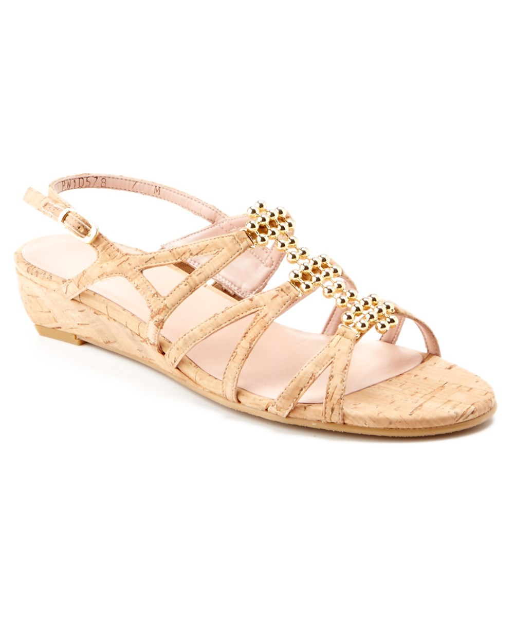 Stuart Weitzman Pinballs Cork Wedge Sandal' In Multi