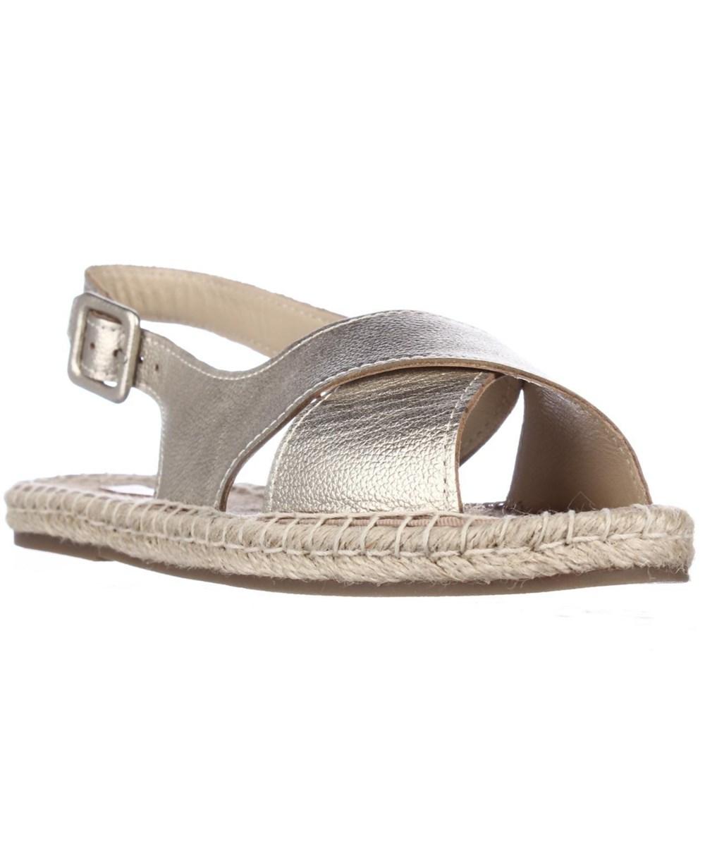 Pour La Victoire Olivia Espadrille Slingback Sandals, Gold