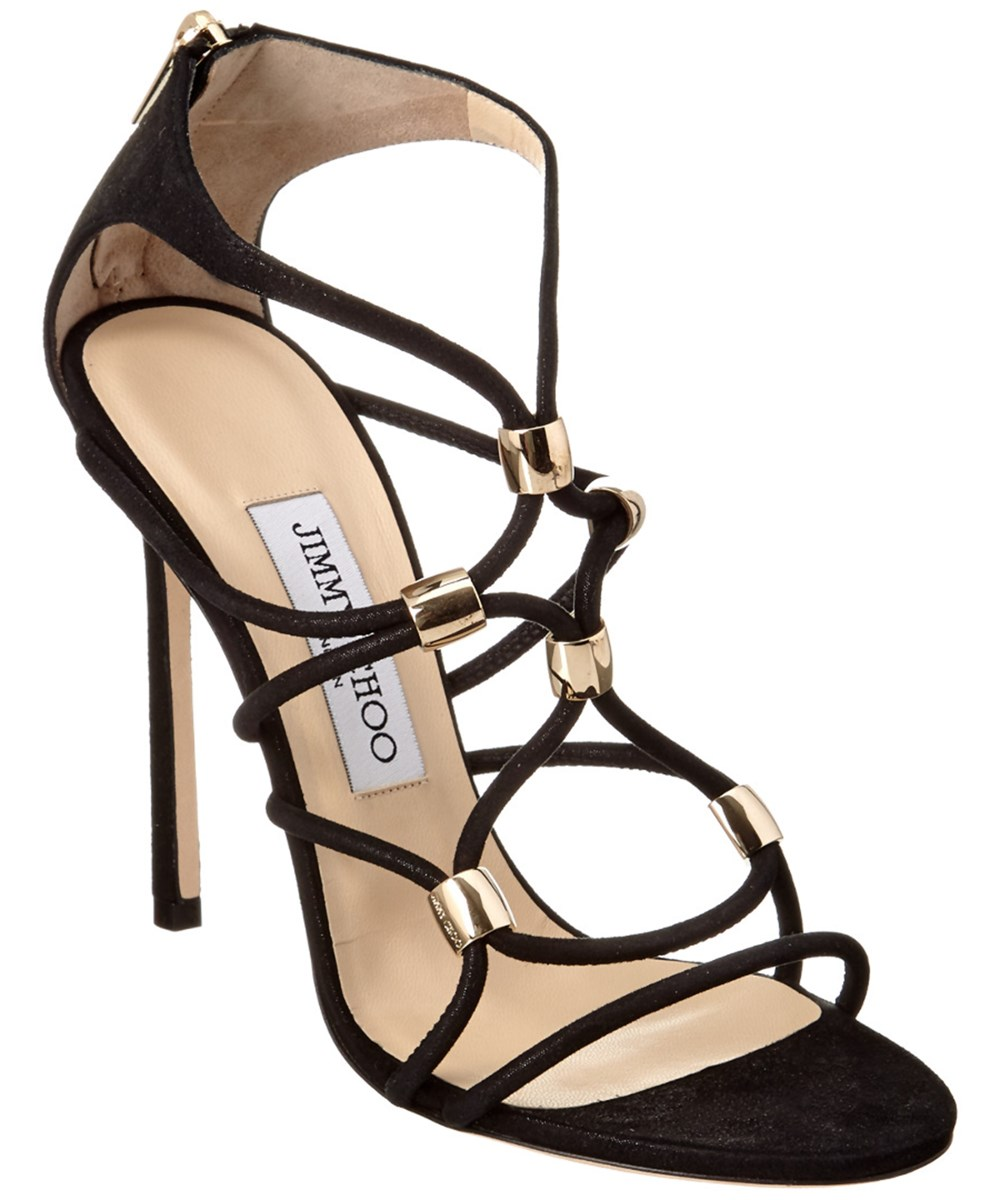 Jimmy Choo Tetrus 110 Cage Suede Sandal' In Nocolor