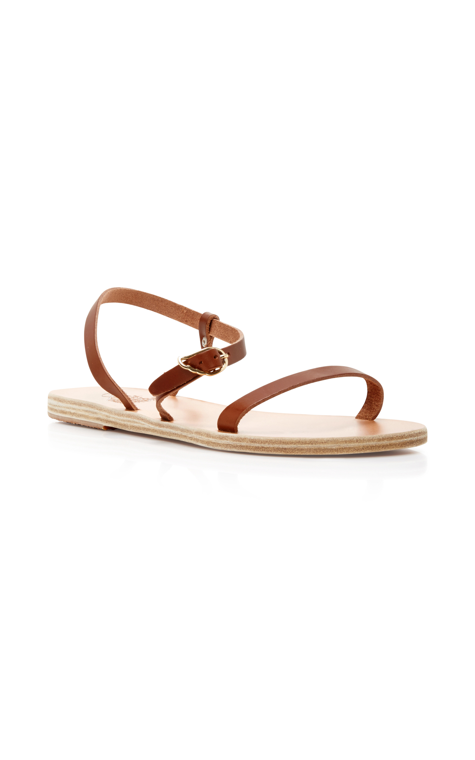 Ancient Greek Sandals 'niove' Leather Sandal (women) In Brown
