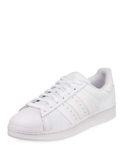 f1b53f18aa47f MEN'S SUPERSTAR FOUNDATION LEATHER SNEAKERS, WHITE