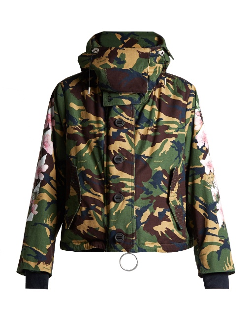 1d333e18fde47 Off-White M65 Embroidered Camo Canvas Field Jacket, Military Green ...