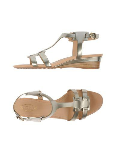 Tod's Sandals In Platinum