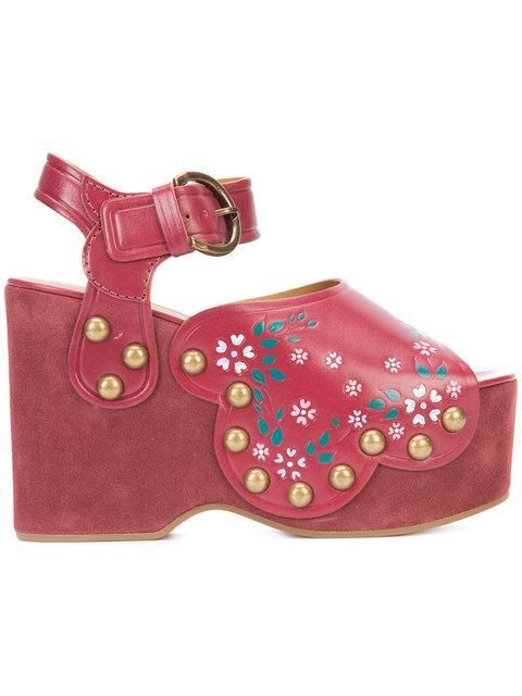 Marc Jacobs Dawn Wedge Sandals In Wiee
