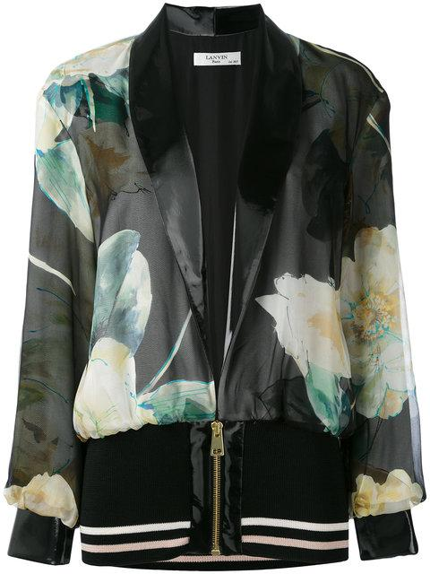 Lanvin Printed Bomber Jacket In Multicolour