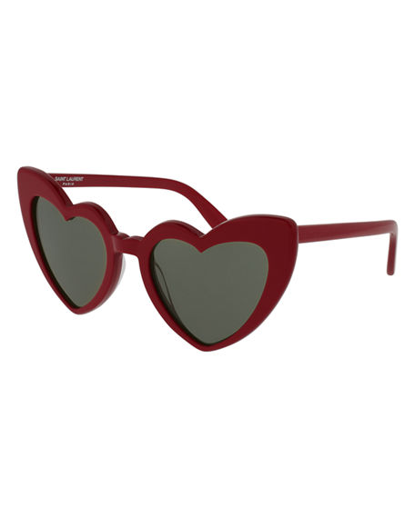 Wave Acetate Shiny Loulou New Laurent In Red 181 Saint Sunglasses wZF1g1