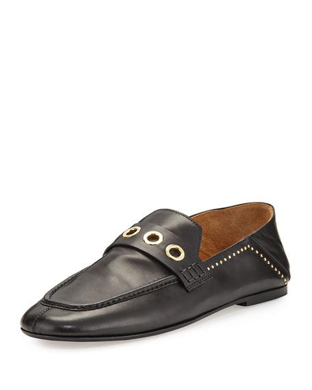 8675d97f84 Isabel Marant Fezzy Studded Leather Penny Loafers - Black | ModeSens