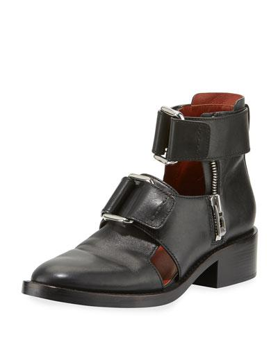 50a487640565 3.1 Phillip Lim Addis Cutout Leather Buckle Boot