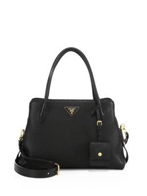 005c31e90047b2 Prada Medium Vitello Daino Top-Handle Bag In Black   ModeSens