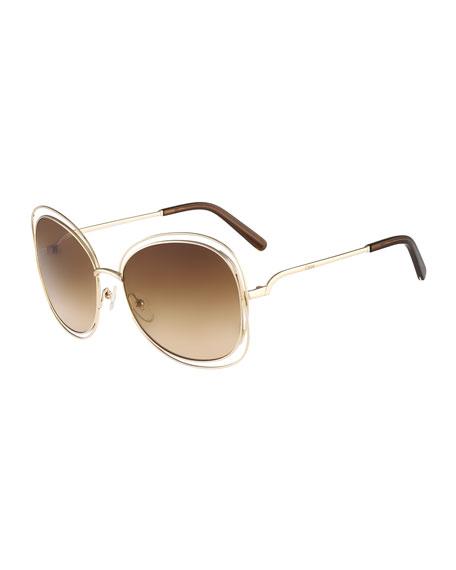 4f540b9a79f ChloÉ Women S Carlina Oversized Round Sunglasses