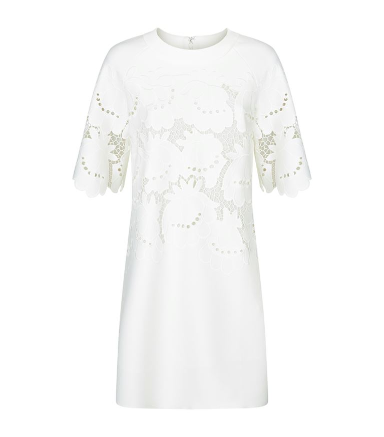04244fb24 Victoria Victoria Beckham Floral Delft Embroidered Shift Dress In Ivory