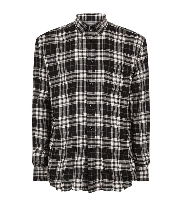 c5dd1fc51f Distressed Checked Shirt