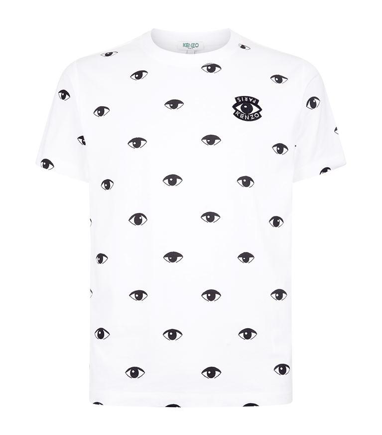 af43af939d84 Kenzo Allover Eyes Print T-Shirt In Blanc|Bianco | ModeSens