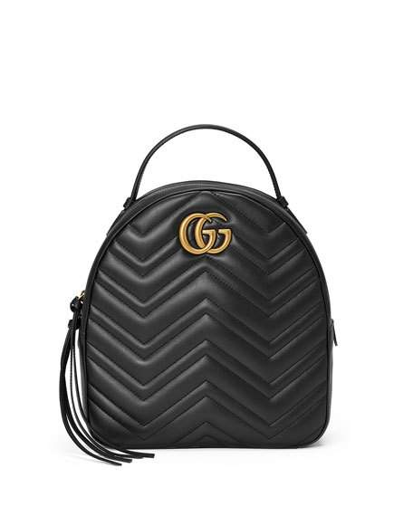 8d484c54688 Gucci Gg Marmont 2.0 MatelassÉ Quilted Velvet Backpack In Black ...