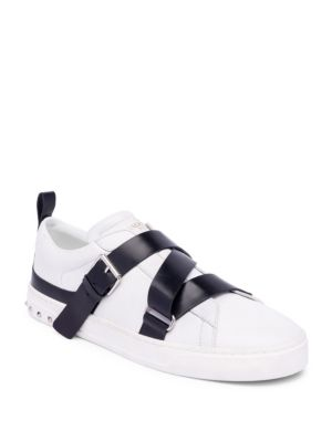 8e8fc96486 Men's V-Punk Leather Low-Top Sneakers
