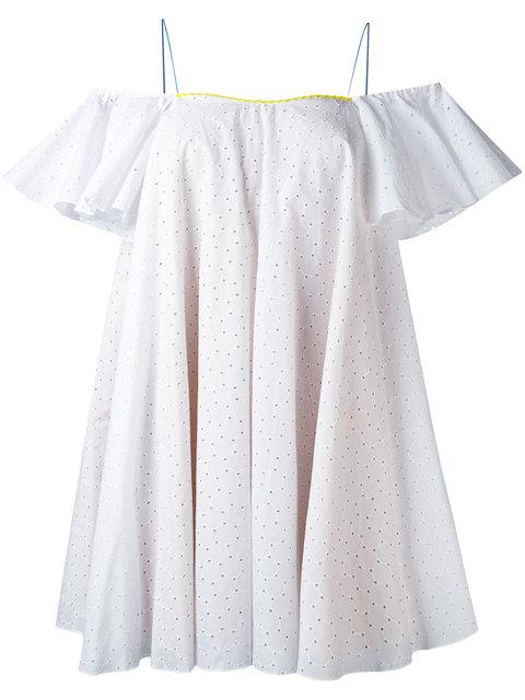 Anna October English Embroidery Shift Dress In White