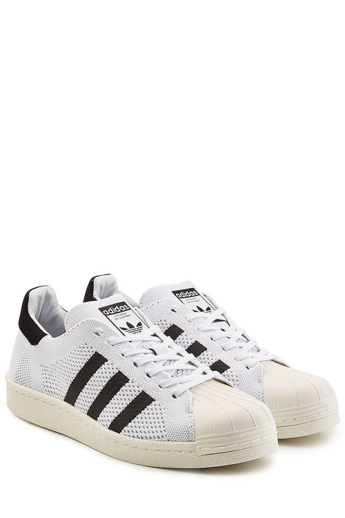 Adidas Originals Superstar Boost Primeknit Sneakers In White Bb0190 - White
