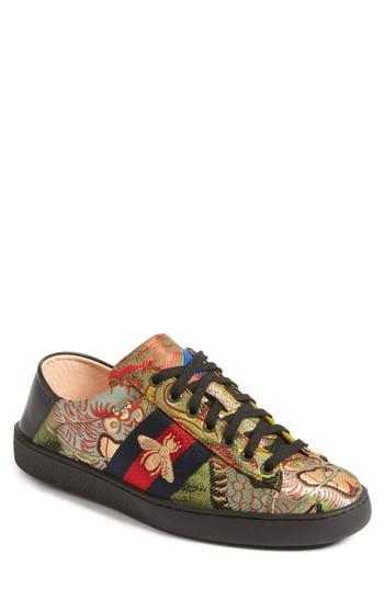 84e08d8233f Gucci New Ace Baroque Convertible Back Sneaker In Black Baroque Multi