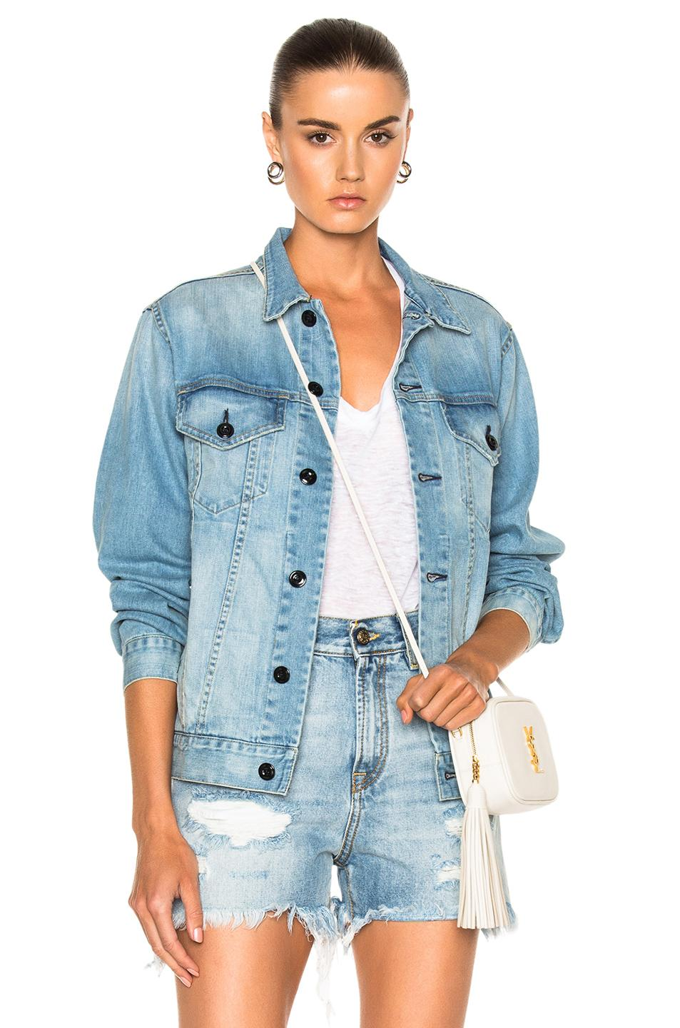 Nili Lotan Luca Jacket In Blue. In Beach Wash