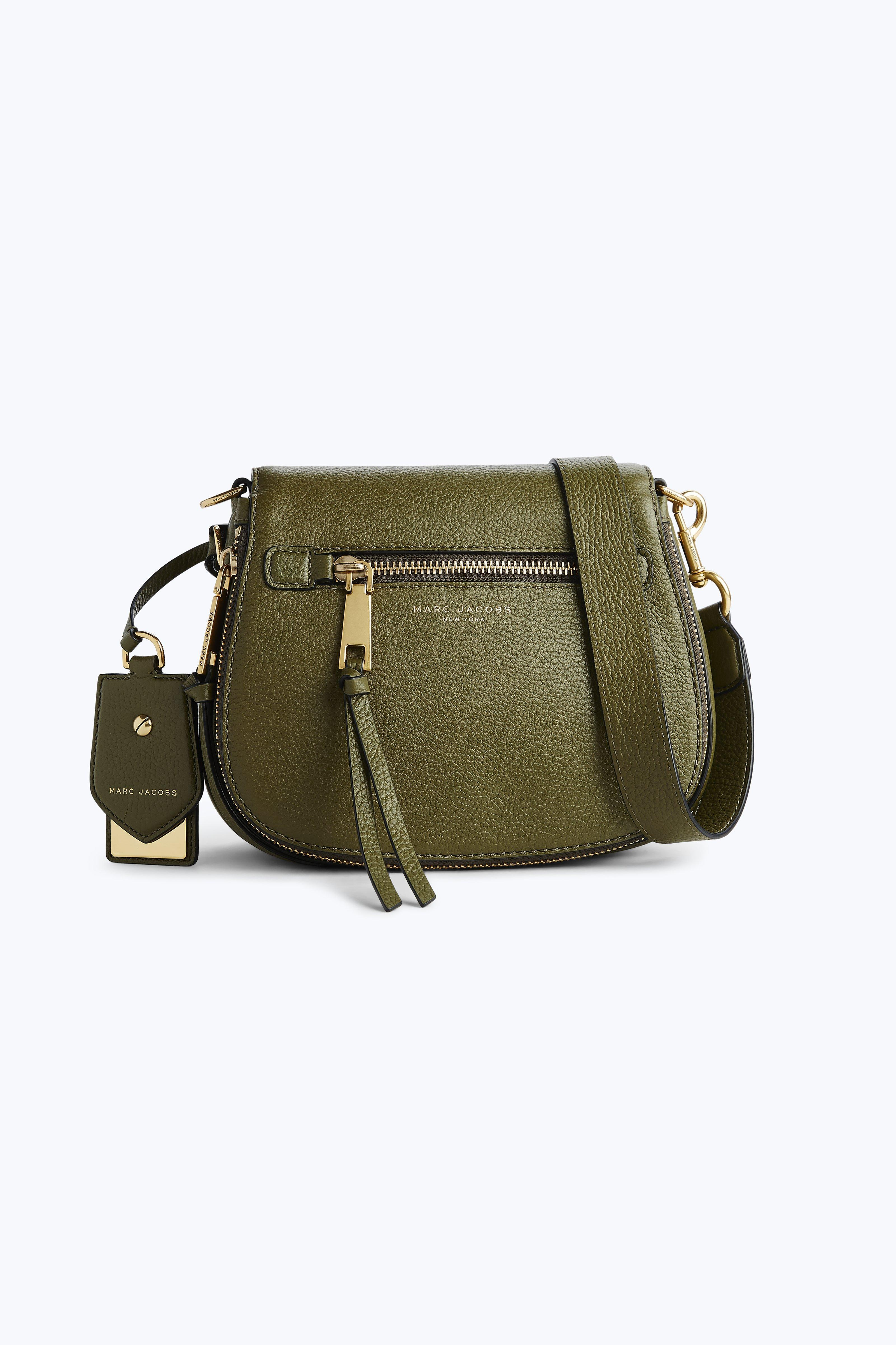a64e29e61f Marc Jacobs Recruit Nomad Leather Saddle Bag In Army Green   ModeSens