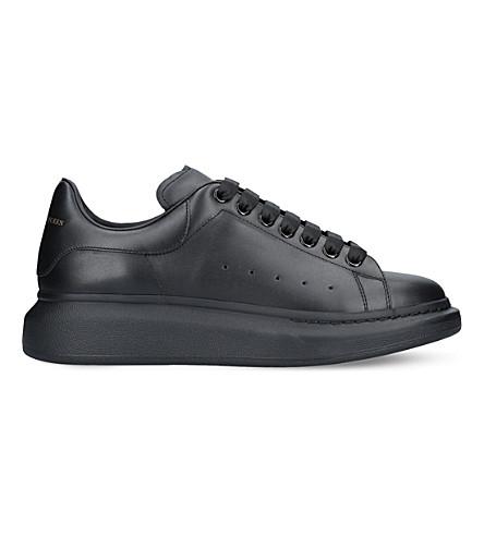Alexander Mcqueen Men's Mixed-media Clear Oversized Sneakers In Black