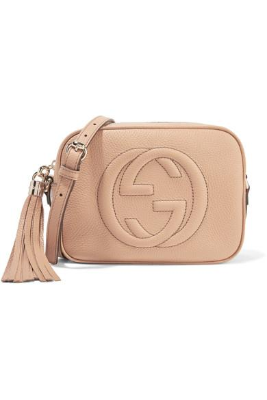 ac7b83817c2 Gucci Soho Disco Textured-Leather Shoulder Bag In Sand