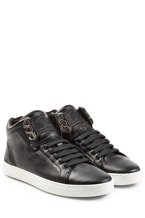 Rag & Bone Leather High Top Sneakers In Black