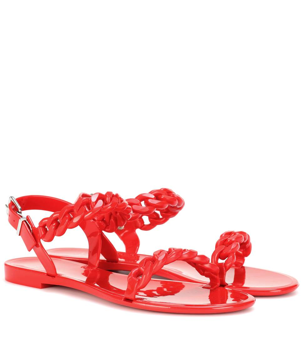 a56d532f220a Givenchy Nea Jelly Flat Sandals In Red