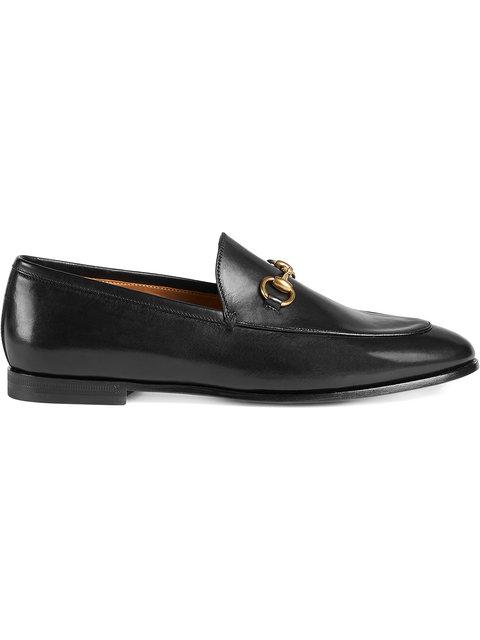 Gucci 10mm Jordaan Horsebit Leather Loafers In Black
