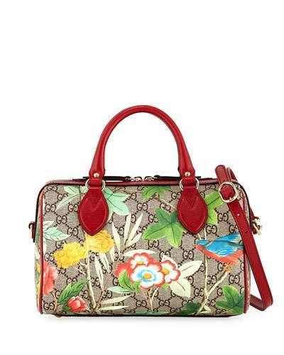 Gucci Tian Boston Gg Supreme Small Canvas Duffel Bag - Beige In Beige-multi
