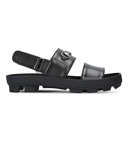 3e57a3692 Gucci Sam Horsebit Sandals, Black, Uk 9 | ModeSens