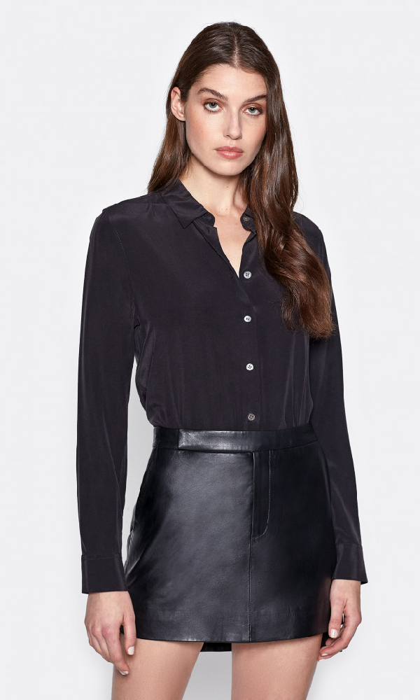 Equipment Essential Silk Shirt In True Black