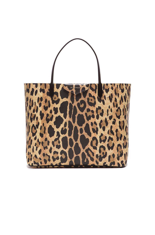 2427087bbf9a Givenchy Antigona Small Leopard-Print Saffiano Faux Leather Tote In Multi +Colour