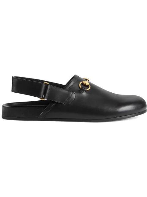 Gucci River Horsebit Leather Slipper In 1000