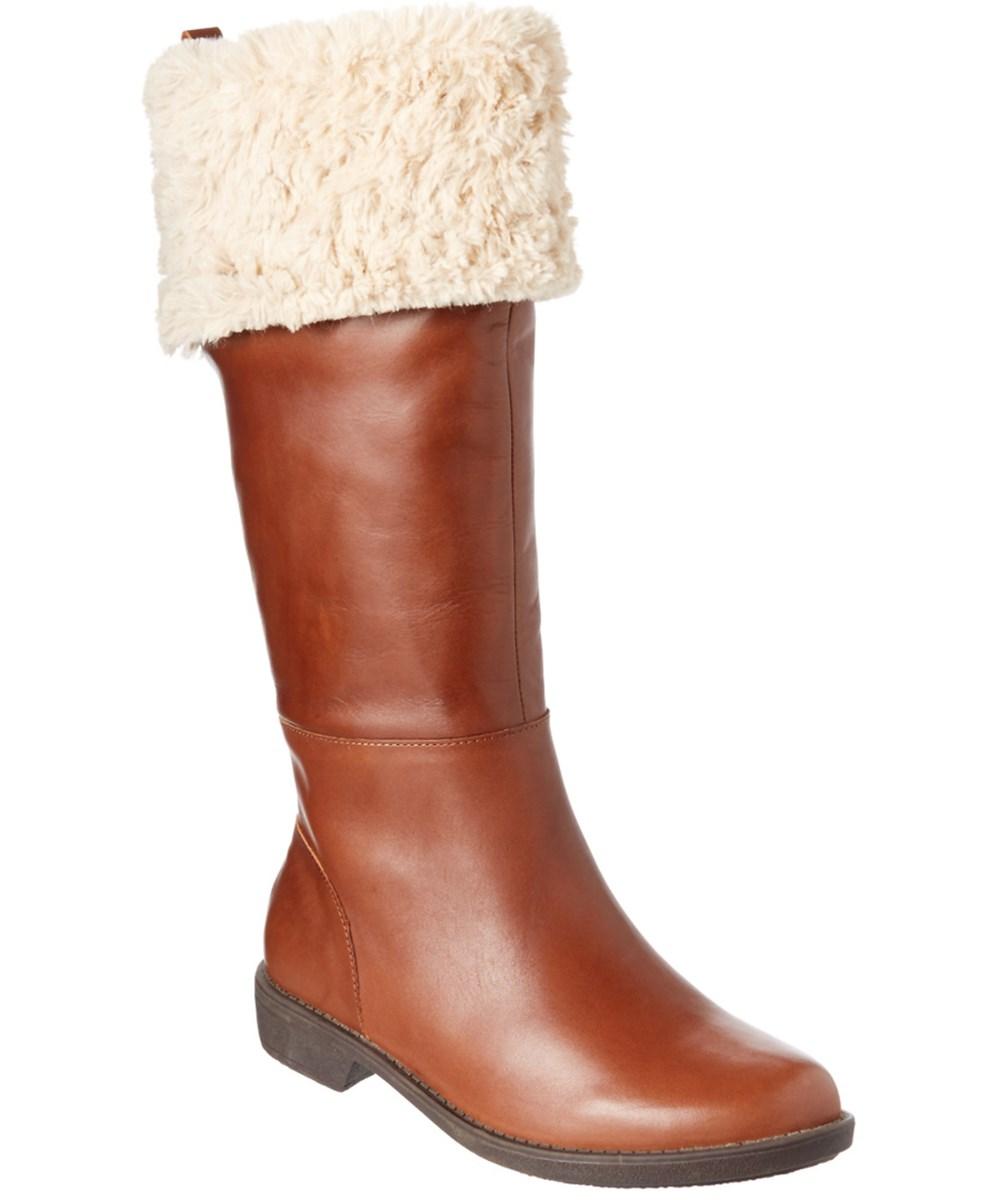 Taryn Rose Avis Leather Tall Boot In Brown