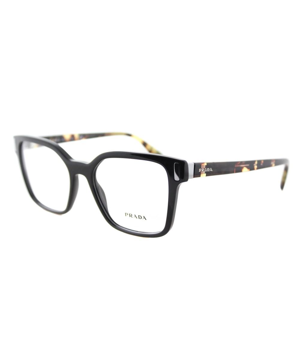 Prada Square Plastic Eyeglasses In Black