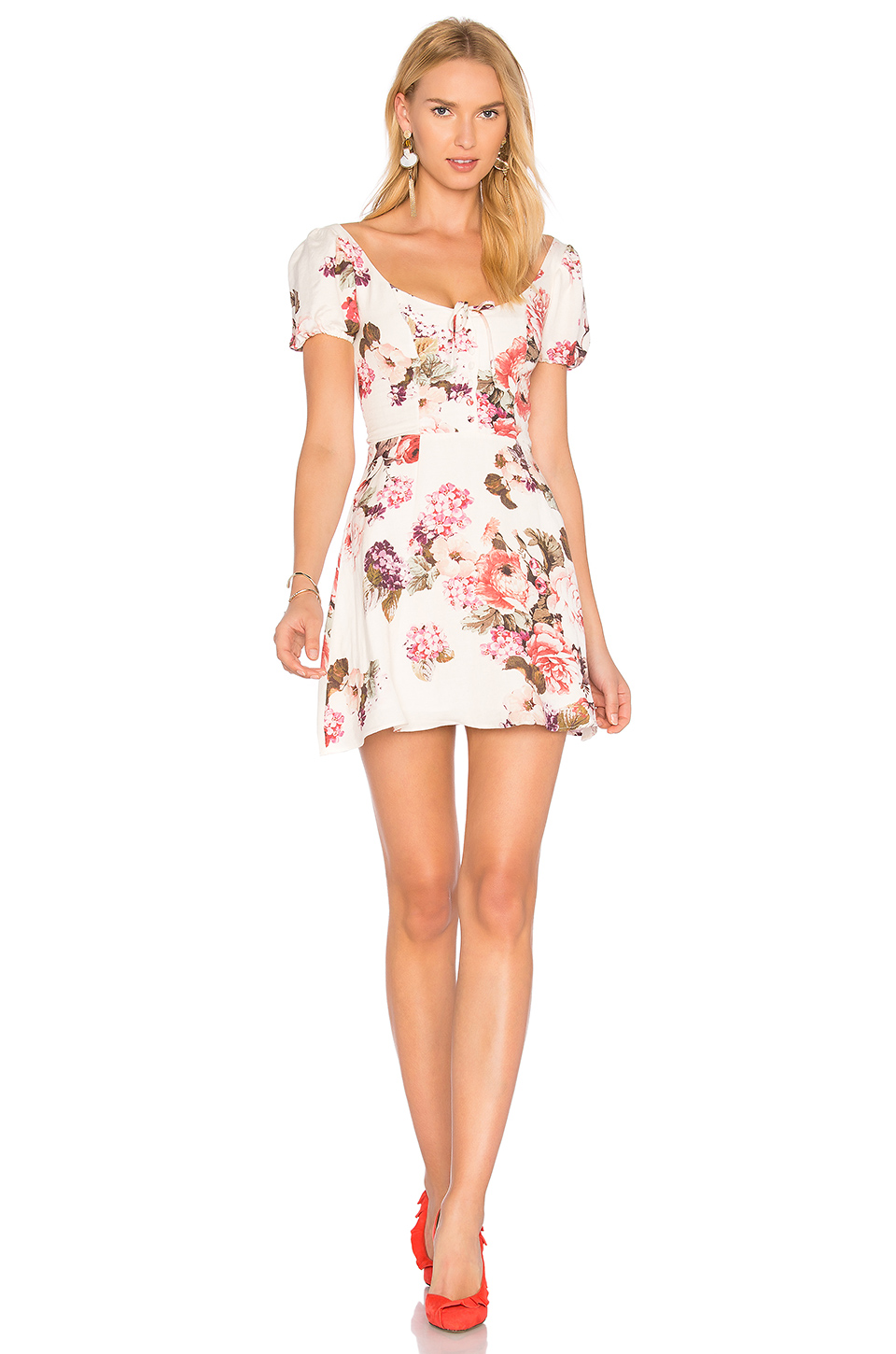 c4bc3806a09 Lpa Floral-Printed Linen And Cotton Dress In Beige