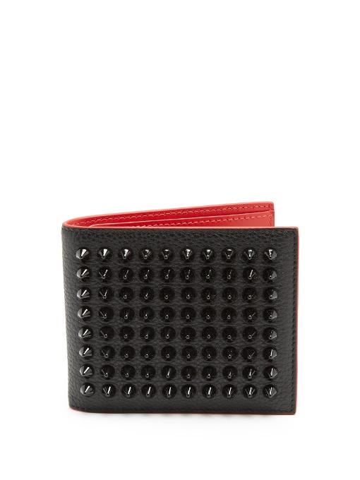 Kaspero Spike Embellished Leather Wallet