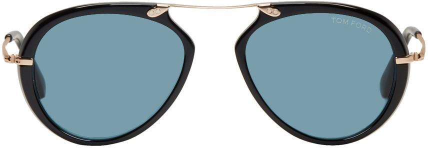fb4abf09502b Tom Ford Aaron Trimmed Aviator Sunglasses