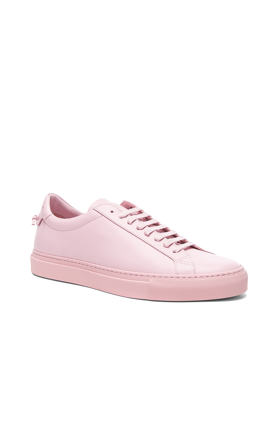 Givenchy Leather Urban Tie Knot Sneakers In Pale Pink