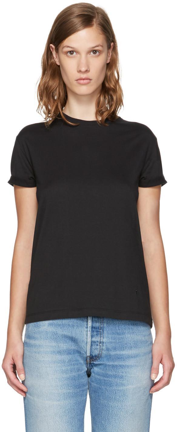 Alexander Wang T Black Superfine Jersey Crewneck T-shirt
