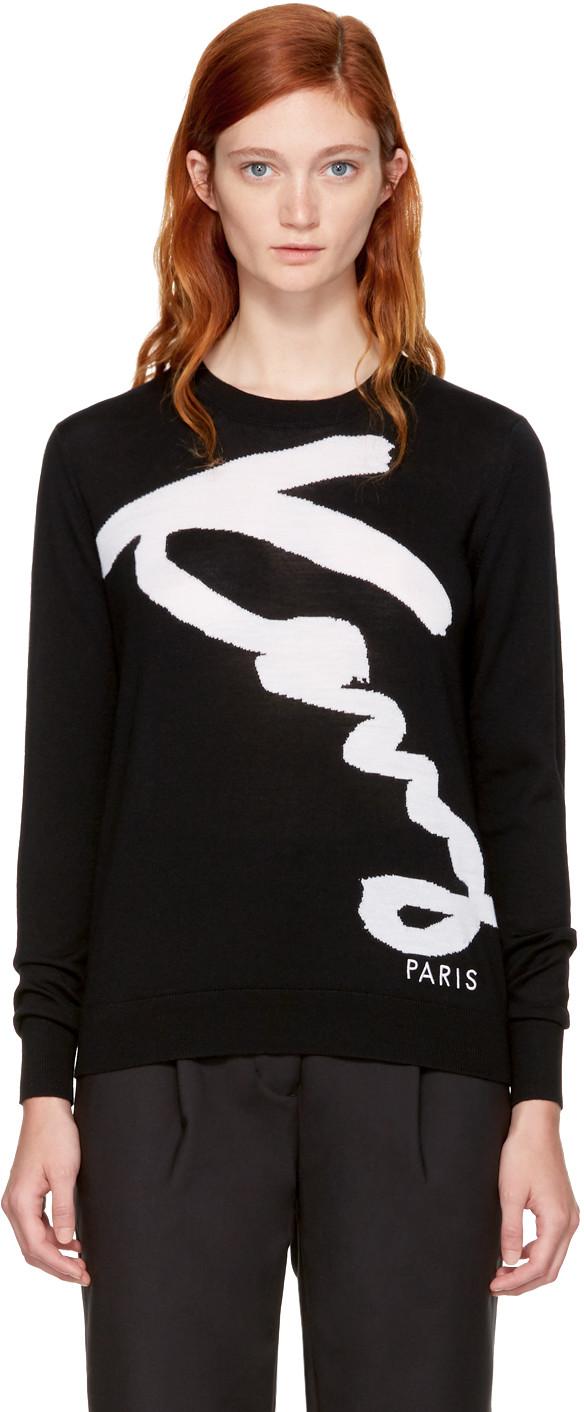 c995cb0e98a Kenzo 'Original Logo' Graphic Sweatshirt In 99 Black   ModeSens