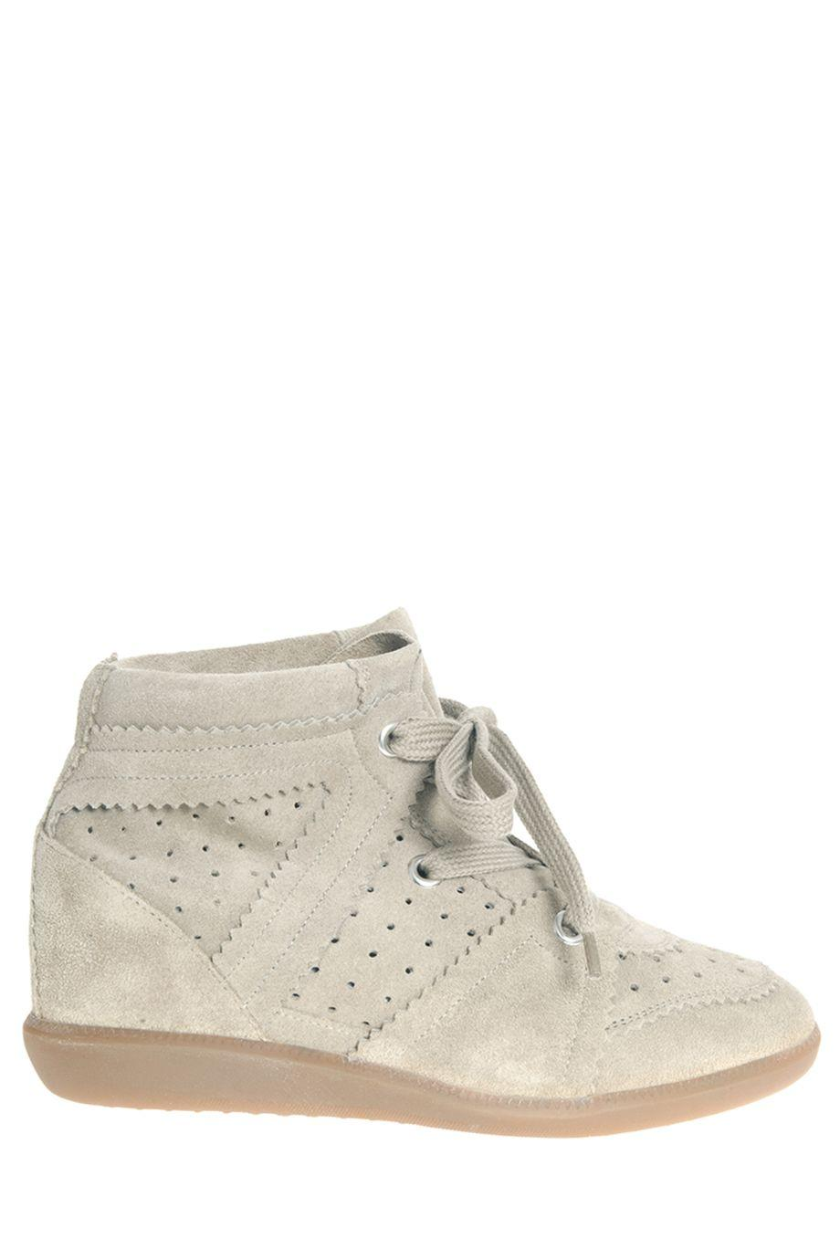Isabel Marant Bobby Suede Sneakers In Soft Blue-grey