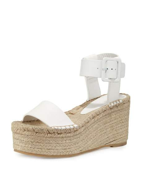 cd4cd18a4e4 Vince White Leather   39 Abby  39  Platform Espadrille Sandals ...